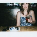 enjoying a beer at A.C.'s