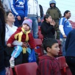 Even Universidad de Chile's younger fans know the words to the several different songs and chants during the game.