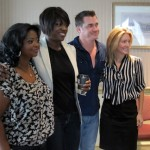 """Actresses Octavia Spencer, Viola Davis, director Tate Taylor and author Kathryn Stockett of """"The Help"""""""