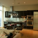 Five-star luxury finishes, including Gaggenau appliancesand floor-to-ceiling windows