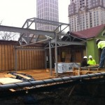 Lure's patio is under construction. Just imagine sipping cocktails and noshing on oysters.