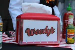 Here's a napkin from Woody's Cheesesteaks to wipe your mouth!