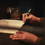 The Sartorio pen, complimented by a nice glass of whiskey.