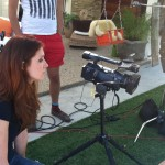 Julia Fowler behind the camera filming her first episode