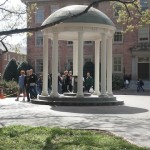 The historic Old Well at UNC-Chapel Hill