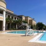 The Strom Thurmond Fitness & Wellness Center feels especially tropical.