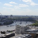 The top of St. Paul's Cathedral provides some of the best views in the city.
