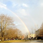 A lovely rainbow over Upper Quad