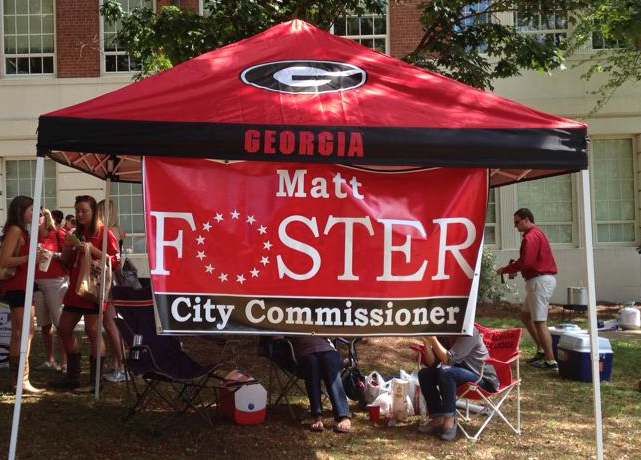 Foster's tailgate at UGA vs. LSU on Sept. 28, 2013.