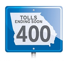 Georgia 400 Tolls Ending Soon