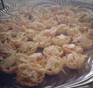 Chicken Caesar Salad Cups