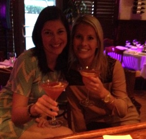 The Pretty Southern Girls with Pink Kiss Martinis