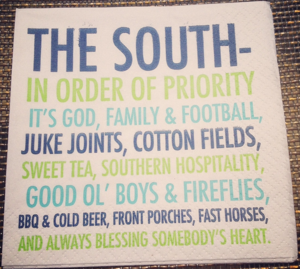 South Cocktail Napkin