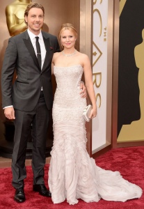 Kristen Bell in Roberto Cavalli looks every bit a Disney princess.