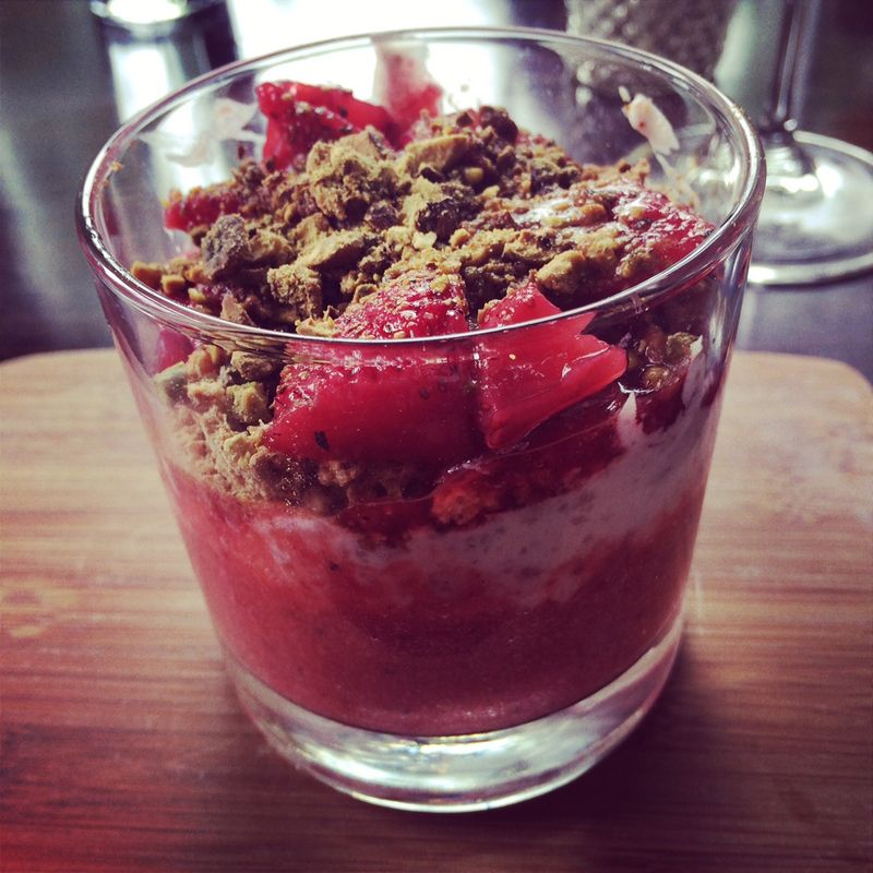 For dessert: strawberry trifle. Every brunch should include dessert.