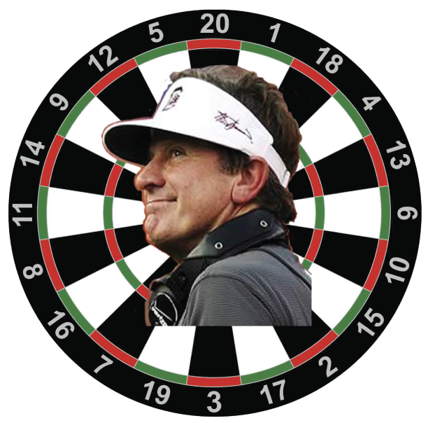 Steve Spurrier Dartboard