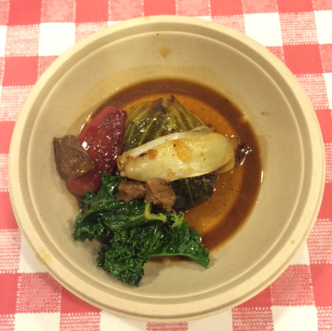 Braised-Pork with Kale