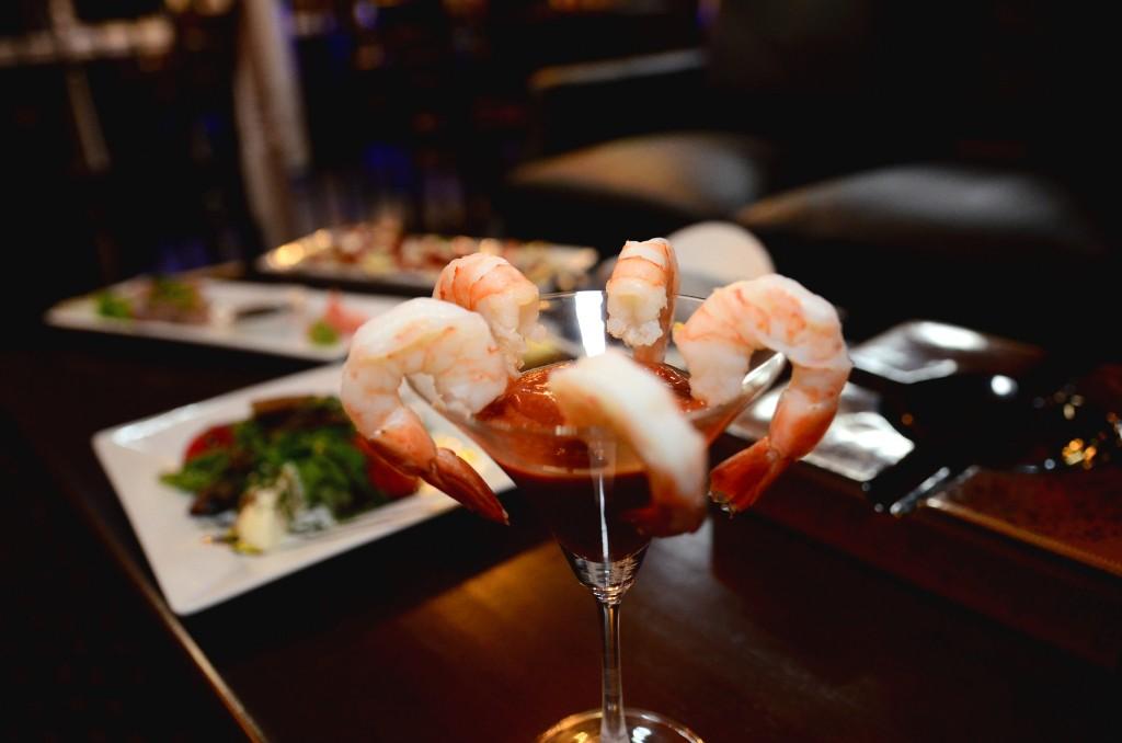 Burn Social Club Atlanta Buckhead Food Shrimp Cocktail Martini