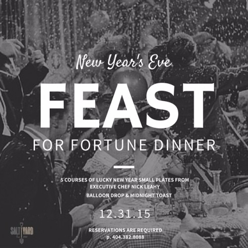New Year's Eve 2016 Atlanta Saltyard
