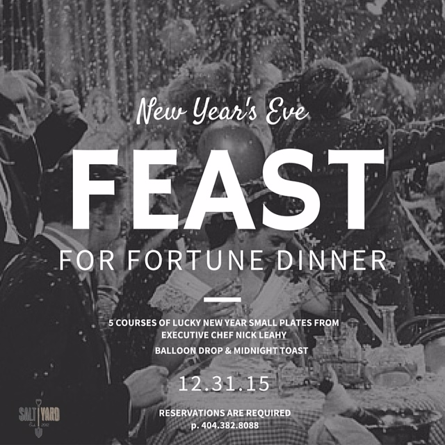 �feast for fortune� new years eve 2016 at saltyard