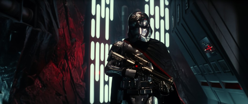 Star Wars: The Force Awakens..Ph: Film Frame..©Lucasfilm 2015 Gwendoline Christie Captain Phasma Storm Trooper