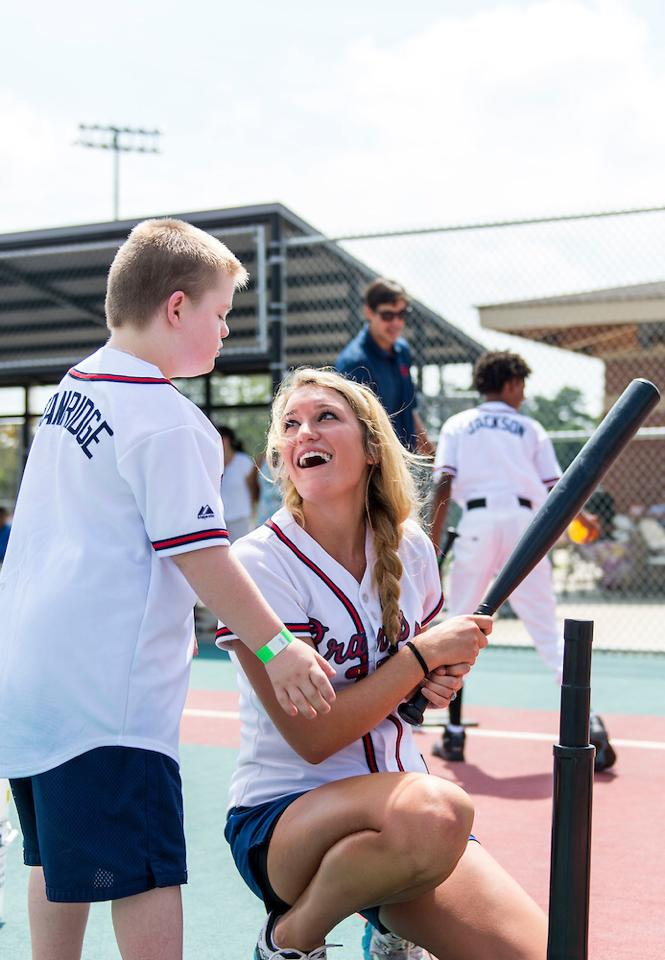 Special Olympics Atlanta Braves Baseball Camp