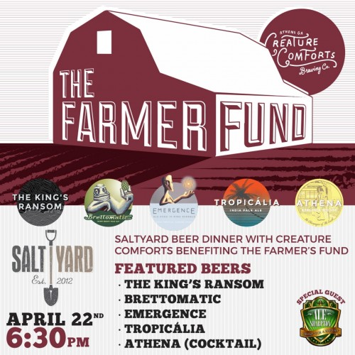 The Farmer Fund Saltyard Creature Comforts Beer Dinner