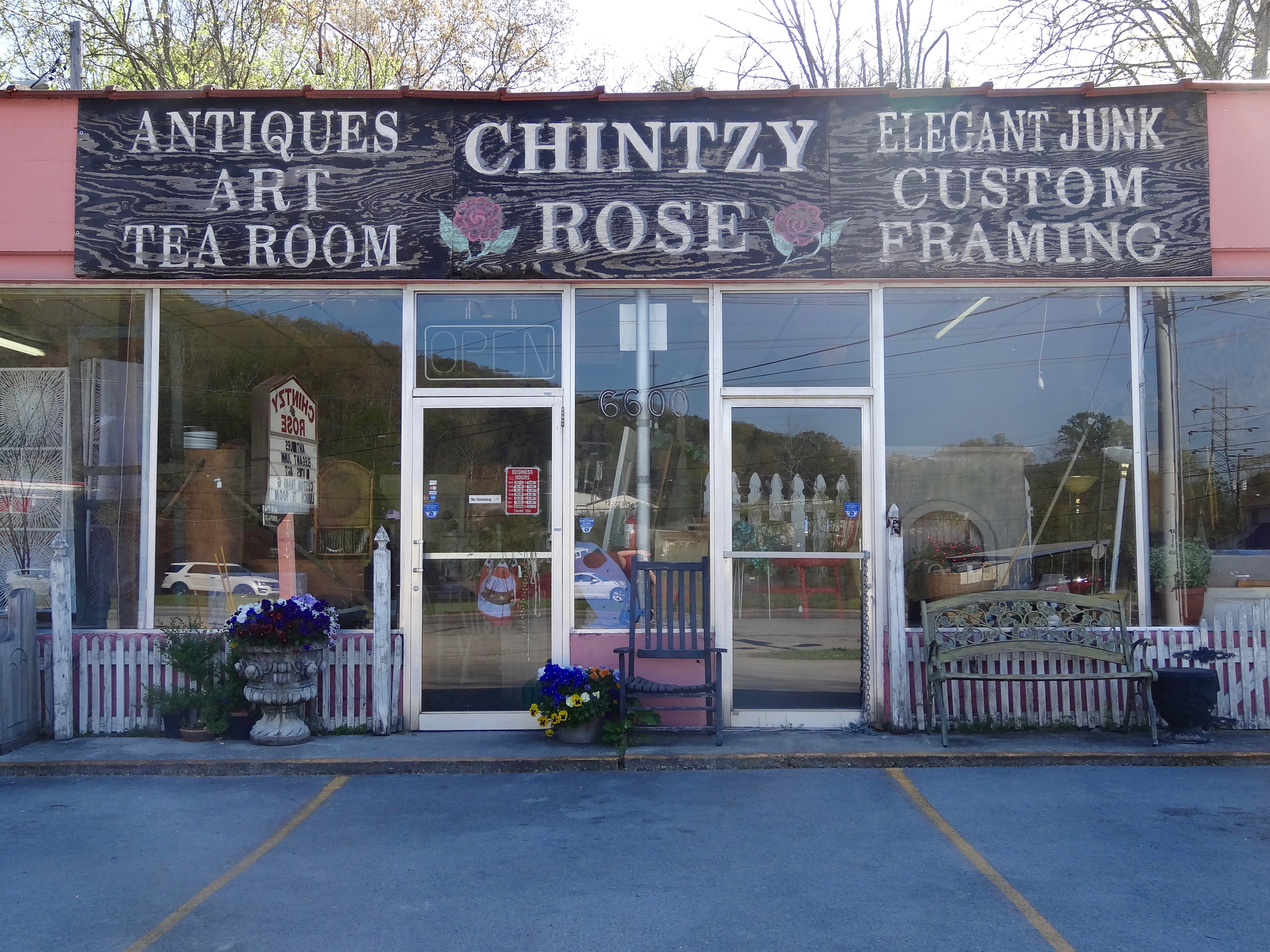 chintzy rose antiques tea room knoxville