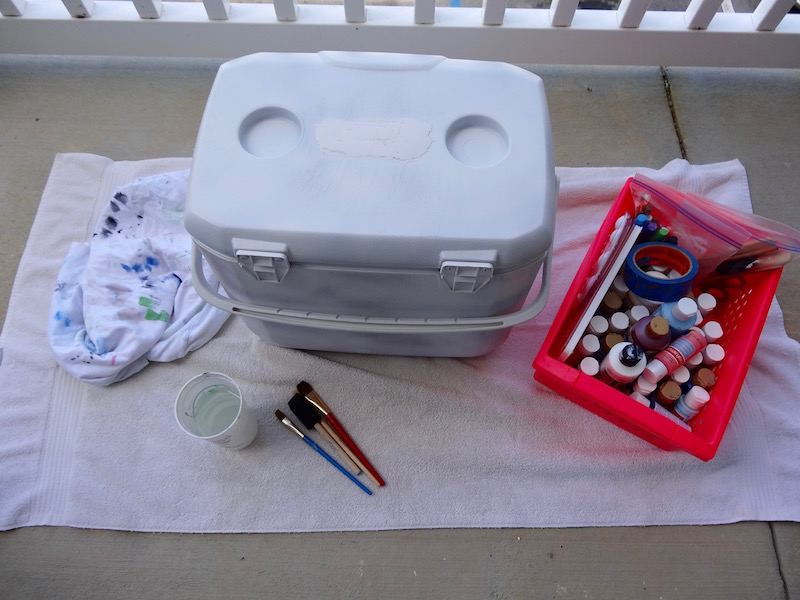 paint a cooler preparation