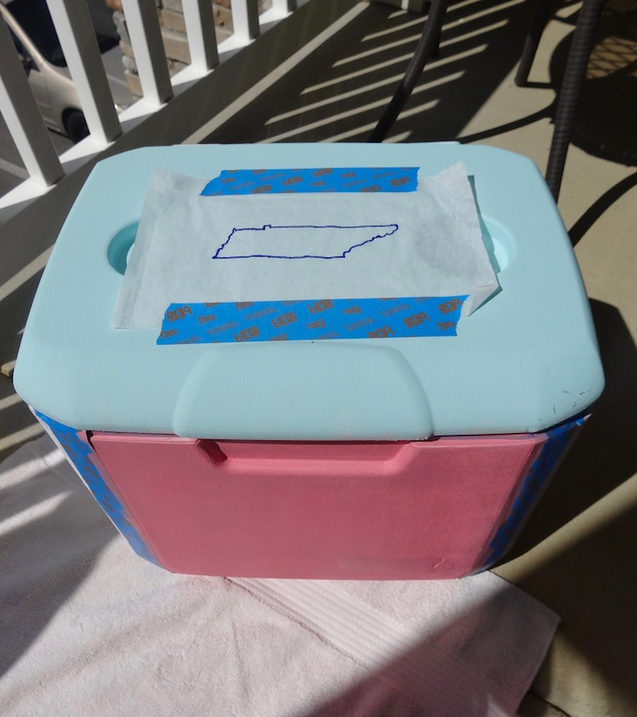 paint a cooler tracing