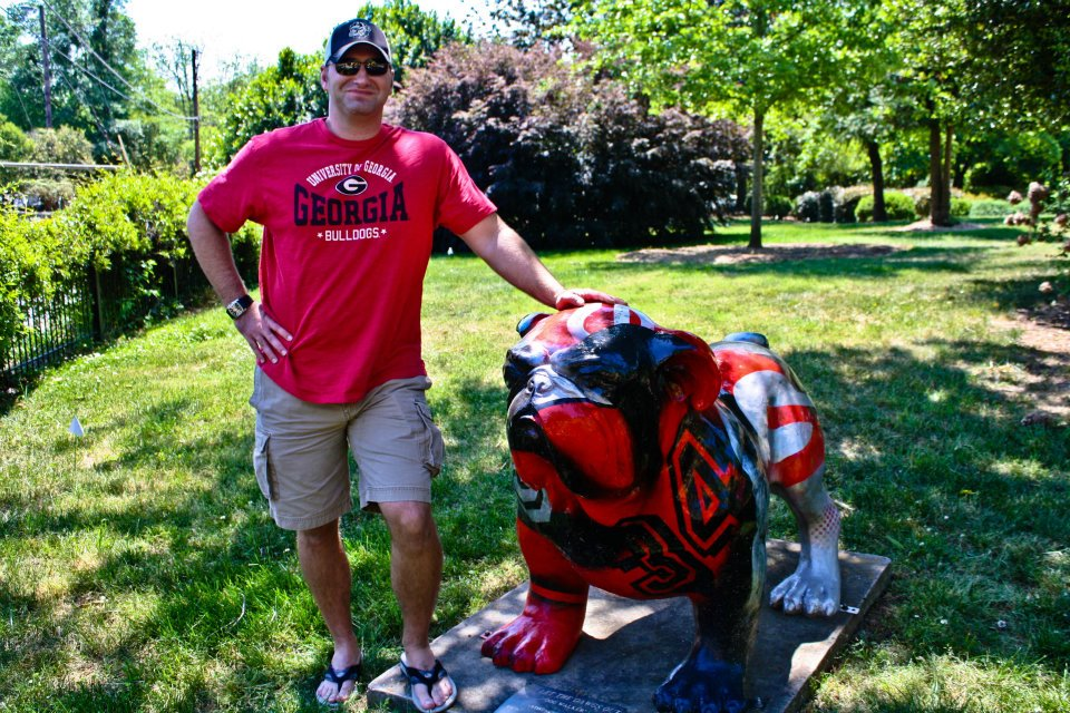 Royce Smith UGA Bulldog statue Athens