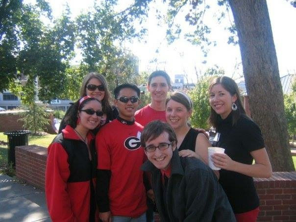 Red and black homecoming UGA athens