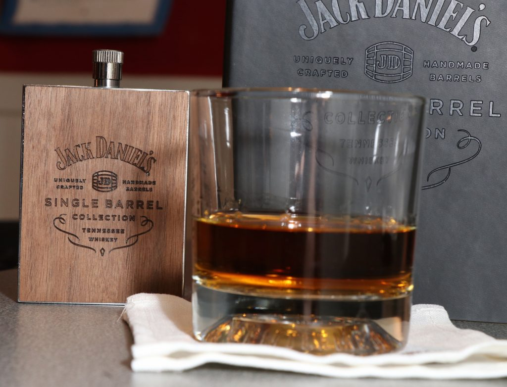 Jack Daniels flask cocktail napkin swag
