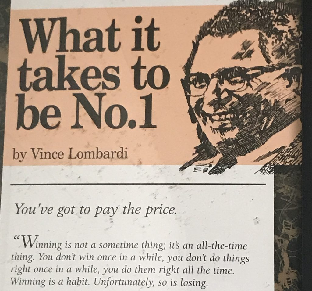Vince Lombardi What it takes to be No. 1