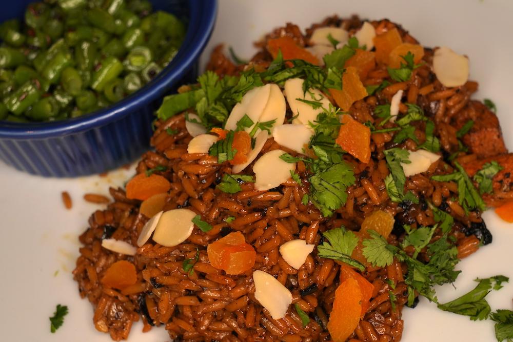 Asha Gomez chicken rice green beans