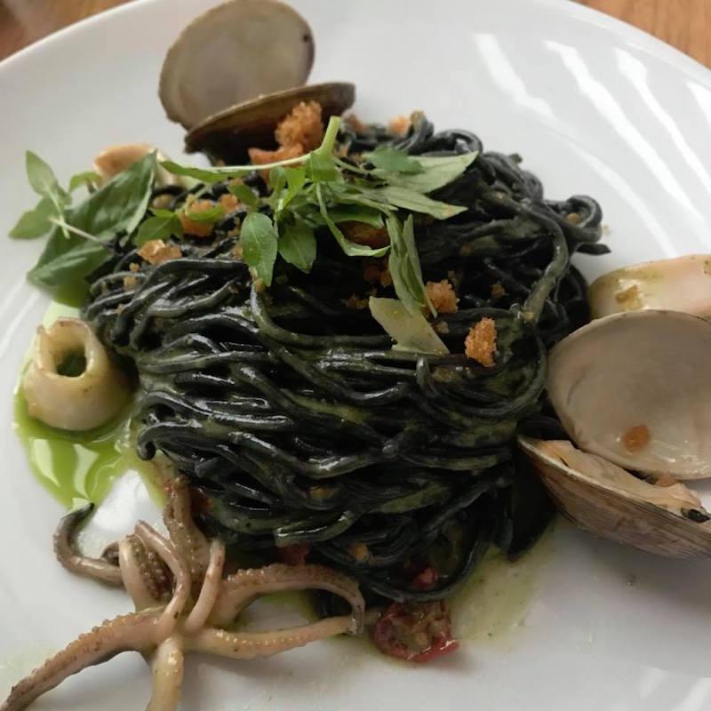 Squid Ink Pasta Clams St. Cecilia