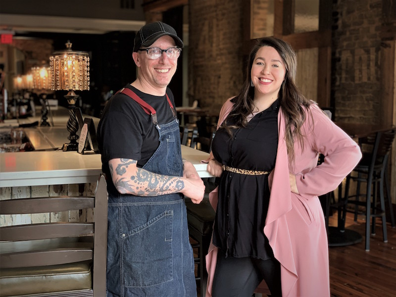Chef Alex Friedman and Brooke Vankirk Bistro Off Broad