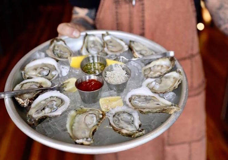 oysters Chef Alex Friedman Bistro Off Broad