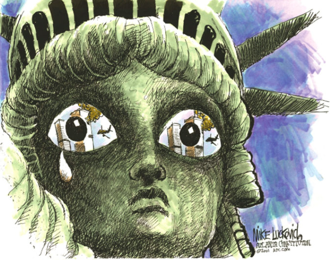 statue-of-liberty-9:11-September-11-mike-luckovich-ajc